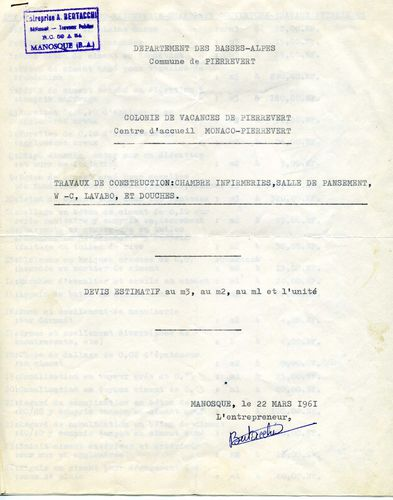 travaux 1 1961
