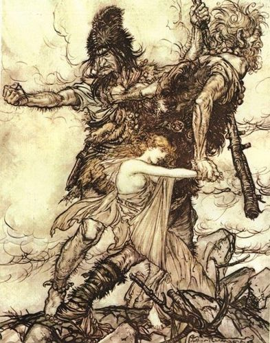 Giants and Freia - Arthur Rackham 1867-1939