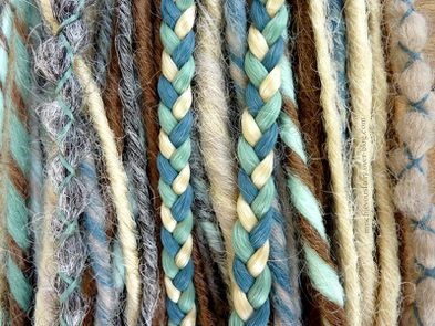 dreads synthetiques chatain platine turquoise gris2
