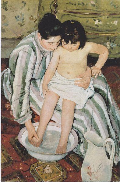 394px-Mary Cassatt - The Child%27s Bath - 1893