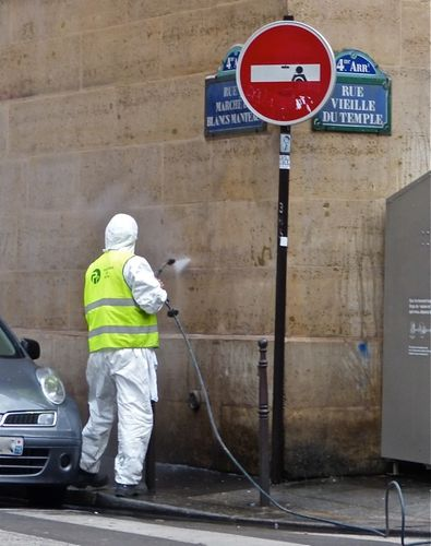 street-art Beaubourg nettoyeur 80713