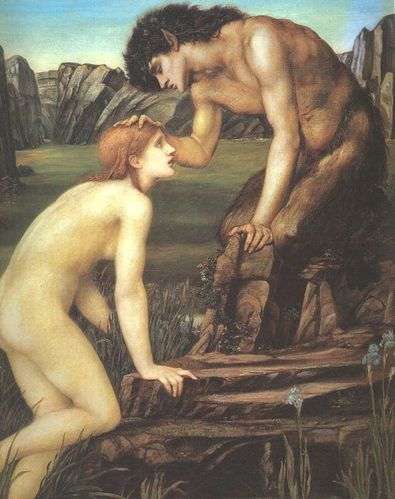 Edward Burne-Jones Pan and Psyche
