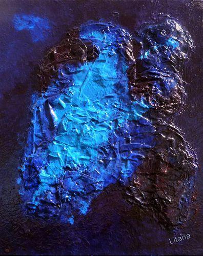 Voyage int rieur le blog de litana tableaux abstraits - Tableau bleu turquoise ...