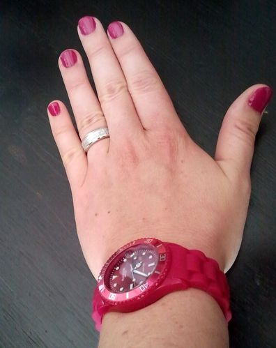 Montre flashy fushia 1