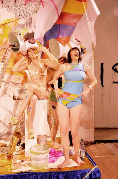 Chicks on Speed 2009 The-Making-of-Art-performance, Schirn-