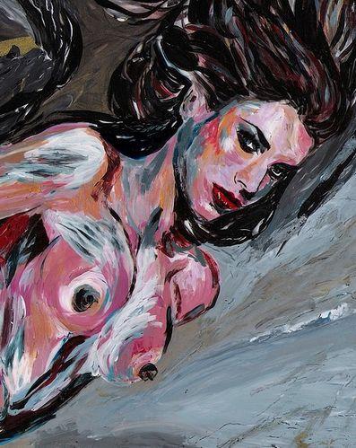 peinture femme nue 2012 - 1 - portrait