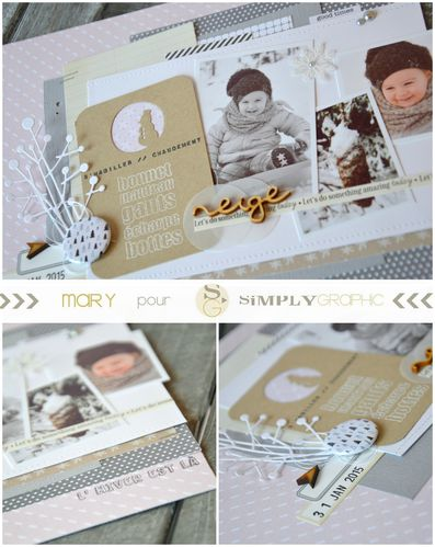 Mary pour Simply Graphic page hiver 2