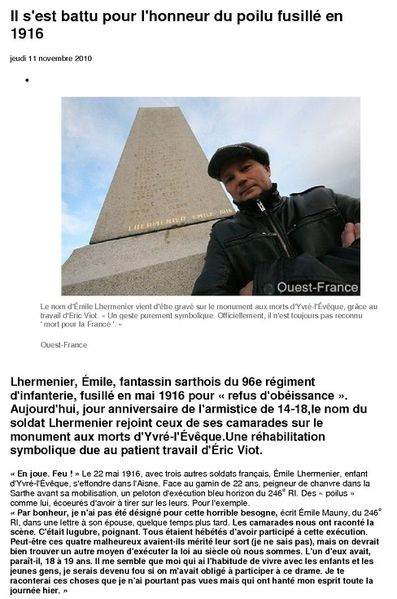 Ouest France 11.11.10-1