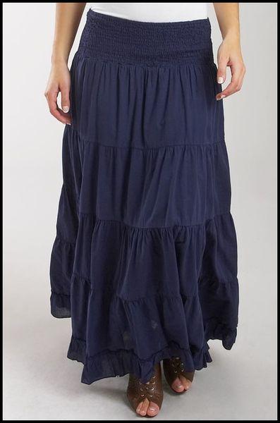 Jupe longue bleu marine Etam