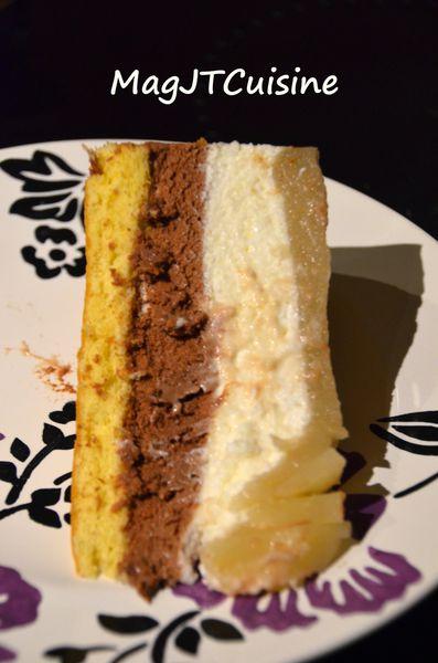 Bavarois poire-chocolat 3