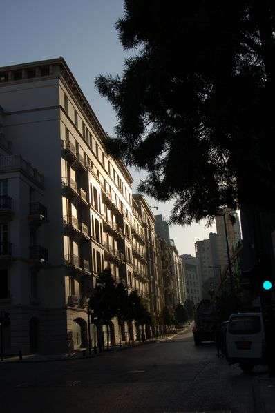 beyrouth contre jour
