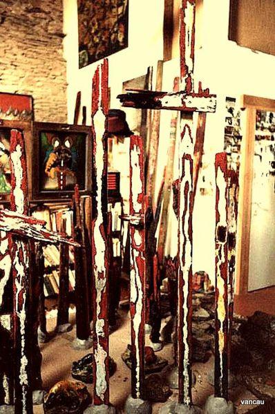 Février 85 Atelier Bois peints 1