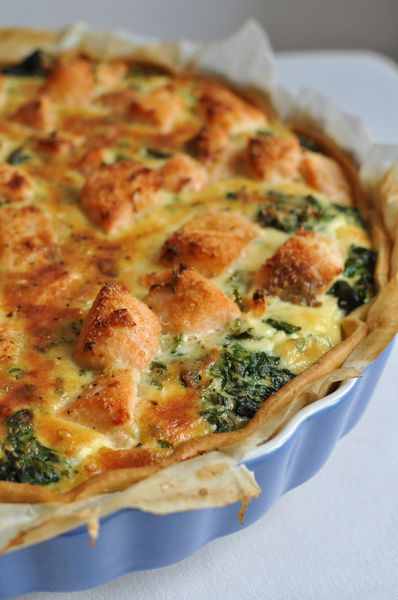 tarte saumon et pinards blog de cuisine cr ative recettes popotte de manue. Black Bedroom Furniture Sets. Home Design Ideas