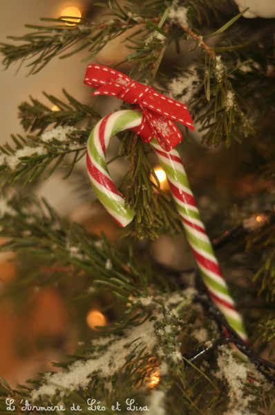 sucre d'orge deco sapin