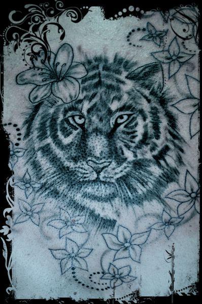 Tracés Tigre & fleurs 4B