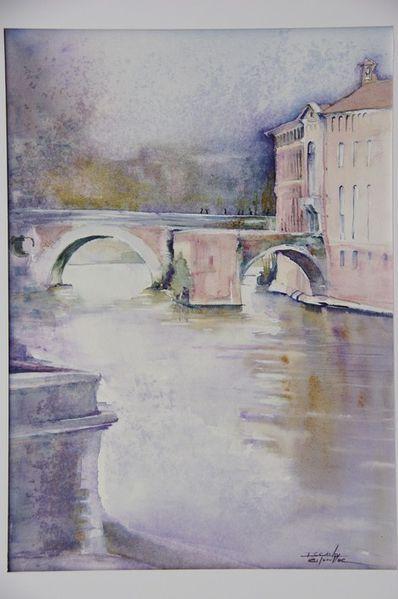aquarelle pont neuf et ancien