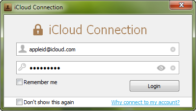 icloud notes login window