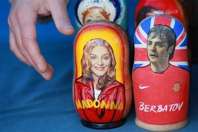 Madonna's traditional Russian wooden doll on sale until Jan. 30, 2010