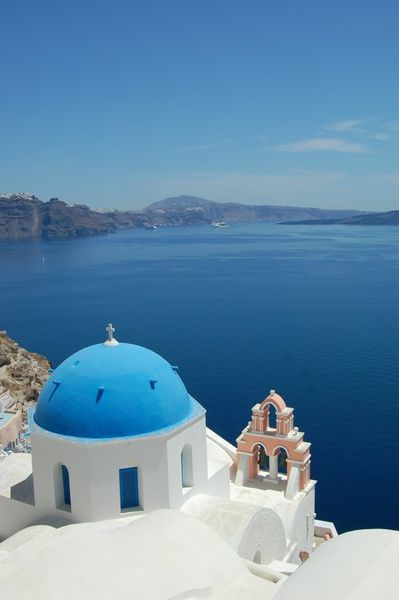 church in Oya, Santorini, Greece