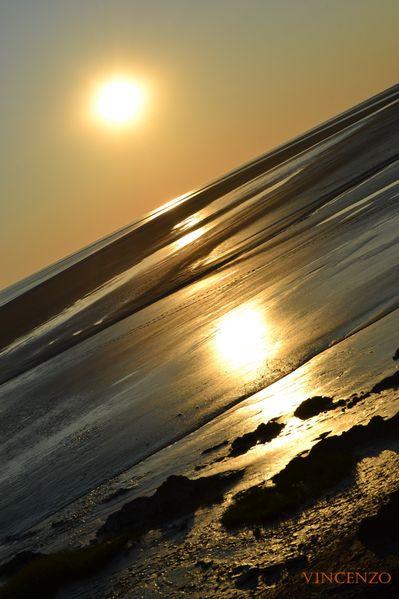 Normandie mont coucher de soleil 711