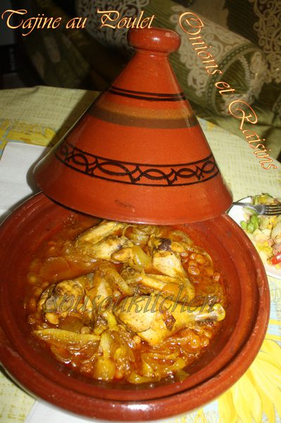 Tajine poulet oignons et raisins de Hamid pic (3)