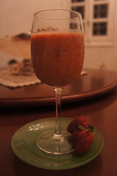 smoothie fraise-bananes de Nacy
