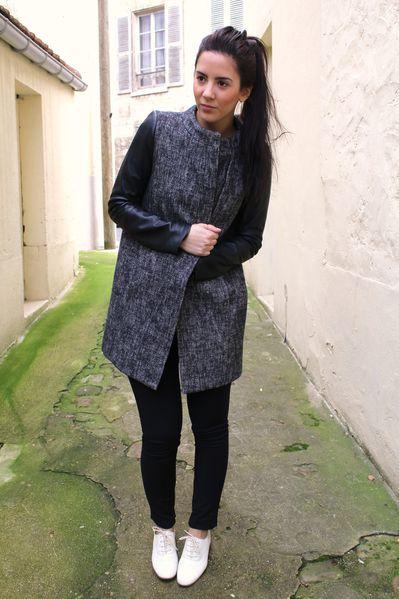 manteau-maje-manche-en-cuir 5521