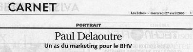 Les echos-27.04.05-Paul Delaoutre - Titre