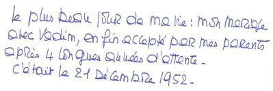 Mot de Brigitte Bardot (Blog Bagnaud)