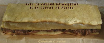 bûche marron 3 couches
