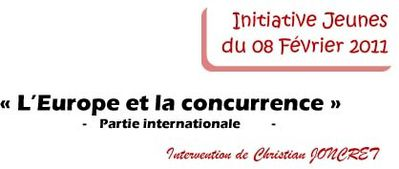 intervention international initiative jeunes du 8 février