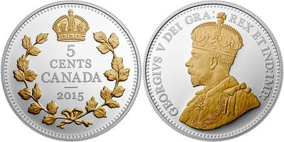 canada 2015 5 cents nickel