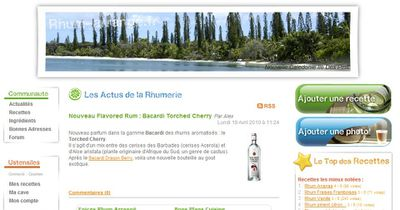 rhum arrangé site internet