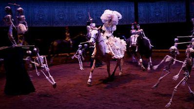 chevaux Calacas danse macabre