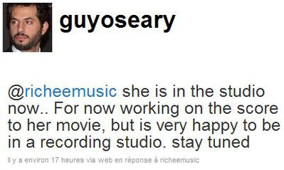 Guy Oseary: ''Madonna is in the studio now working on music for W.E.''