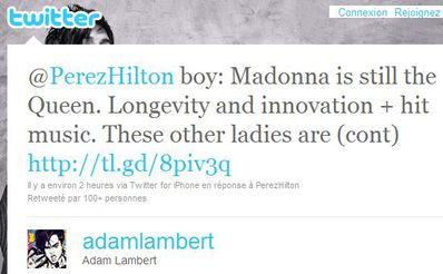 Adam Lambert to Perez Hilton on other ladies and Madonna