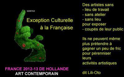 exception culturelle art contemporain