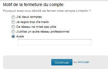 Supprimer votre profil Linkedin