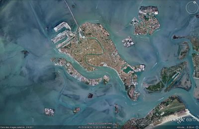 vue satellite Venise