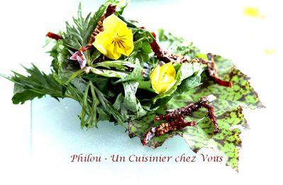 salade feuilles et fleurs