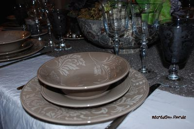 Table marron glacé 6