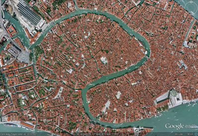 vue satellite Grand Canal Venise