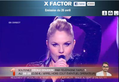 X Factor: Cécile Couderc sings ''Born This Way/Express Yourself''