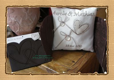 coussin mariage LB