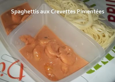 Spagettis crevettes pimentes 3