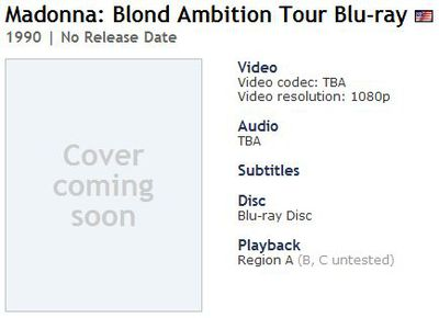 Madonna's next Blu-ray: Girlie Show, Blond Ambition Tour, Virgin Tour
