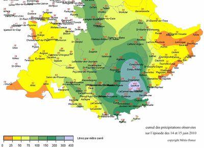 carte météo région draguigan juin 2010