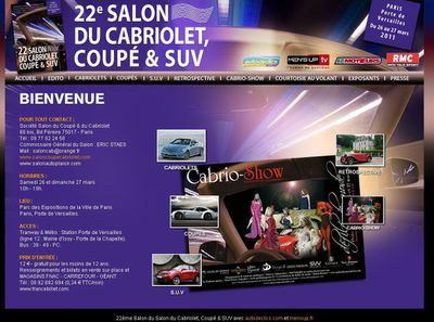 Salon coupe cabriolet SUV