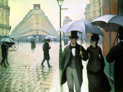 pluie gustave caillebotte