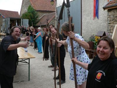 Les Flambeaux de L'allan au travail ! Photo de http://medieval-moyen-age.net